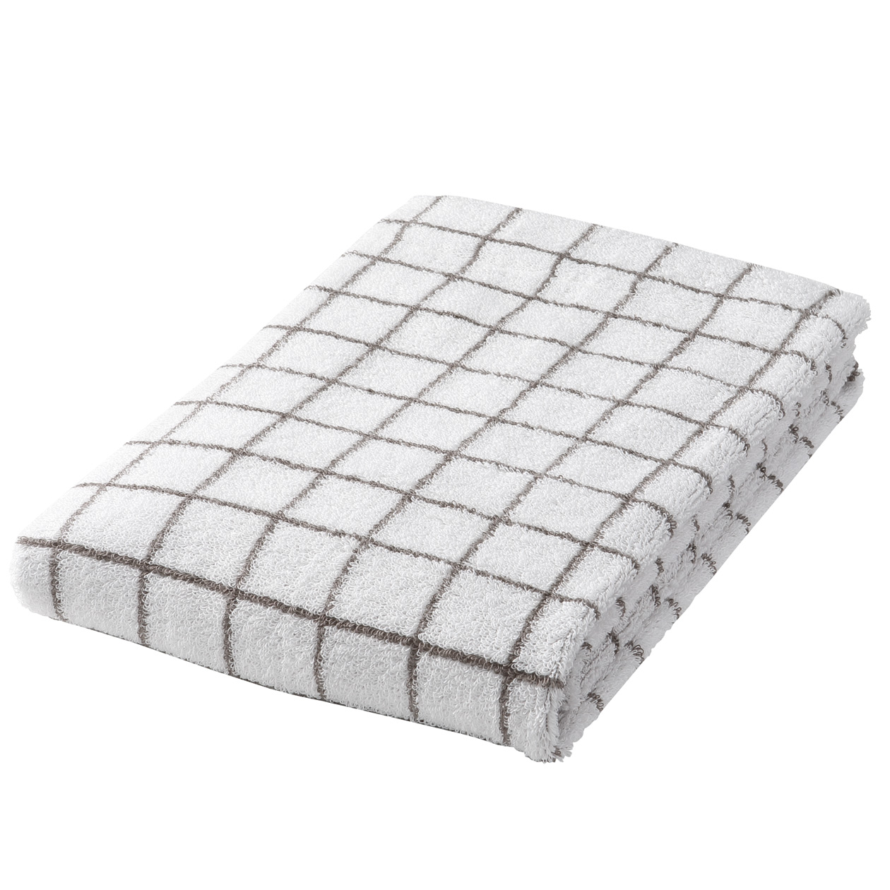 brown check medium Bath towel