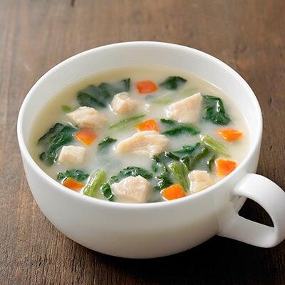 食べるスープ 鶏肉とほうれん草のクリームシチュー