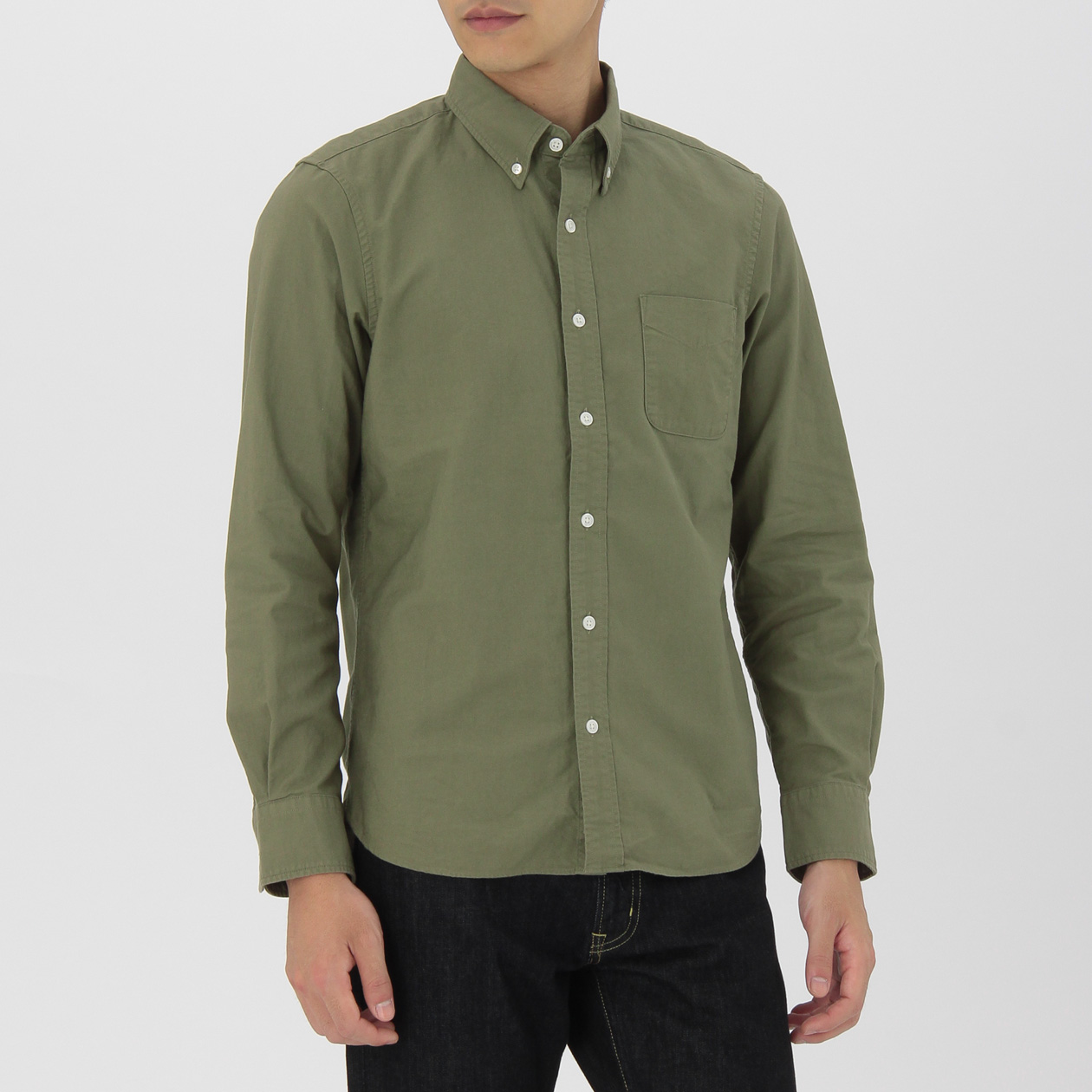 OGC GARMENT DYE OXFORD BUTTON DOWN SHIRT