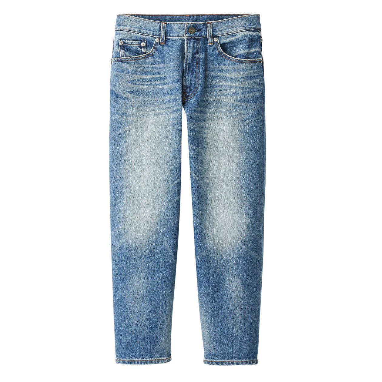 DENIM STRETCH WIDE TROUSERS