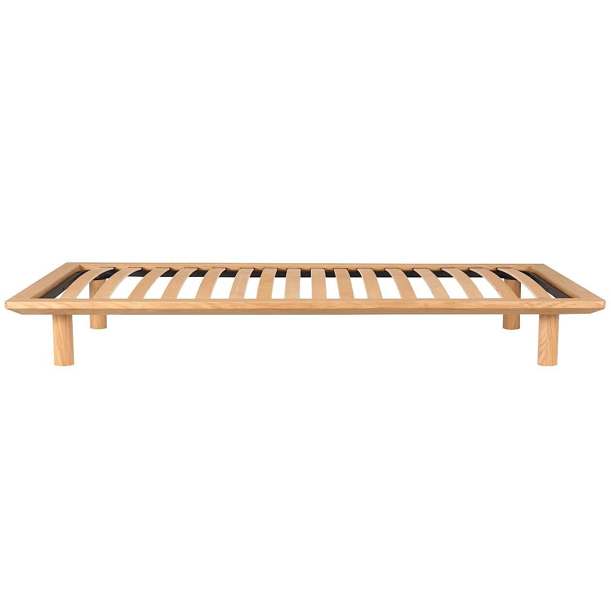 [무인양품] MUJI 침대프레임 싱글 오크 다리 별매 폭103x깊이202×높이5.5cm 일본 공식스토어 상품