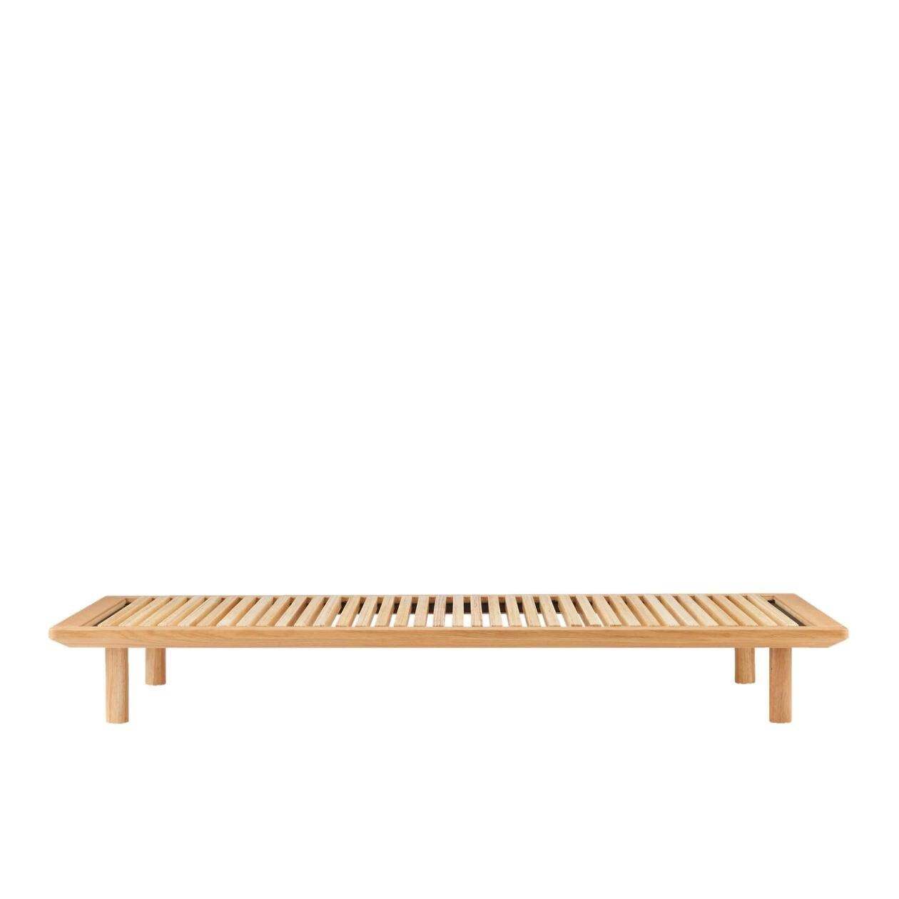 [무인양품] MUJI 침대프레임 싱글 오크 스노코사양 폭103x깊이202×높이5.5cm 일본 공식스토어 상품