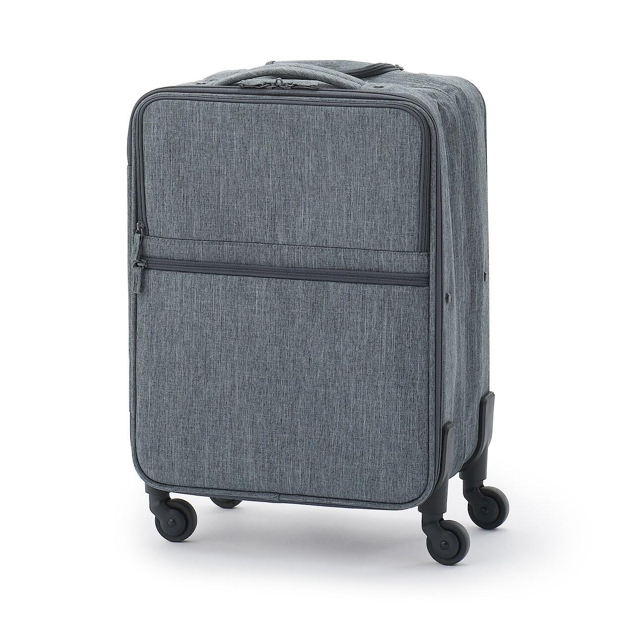 [무인양품] 반으로 수납 가능 소프트 여행용 캐리어(S) 그레이 MUJI 일본 공식스토어