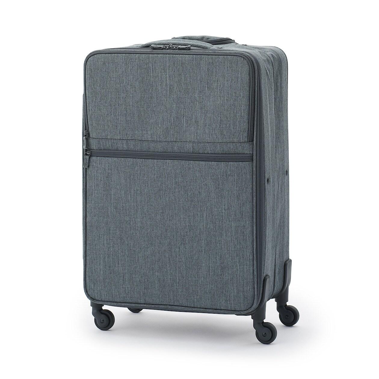 [무인양품] 반으로 수납 가능 소프트 여행용 캐리어(L) 그레이 MUJI 일본 공식스토어