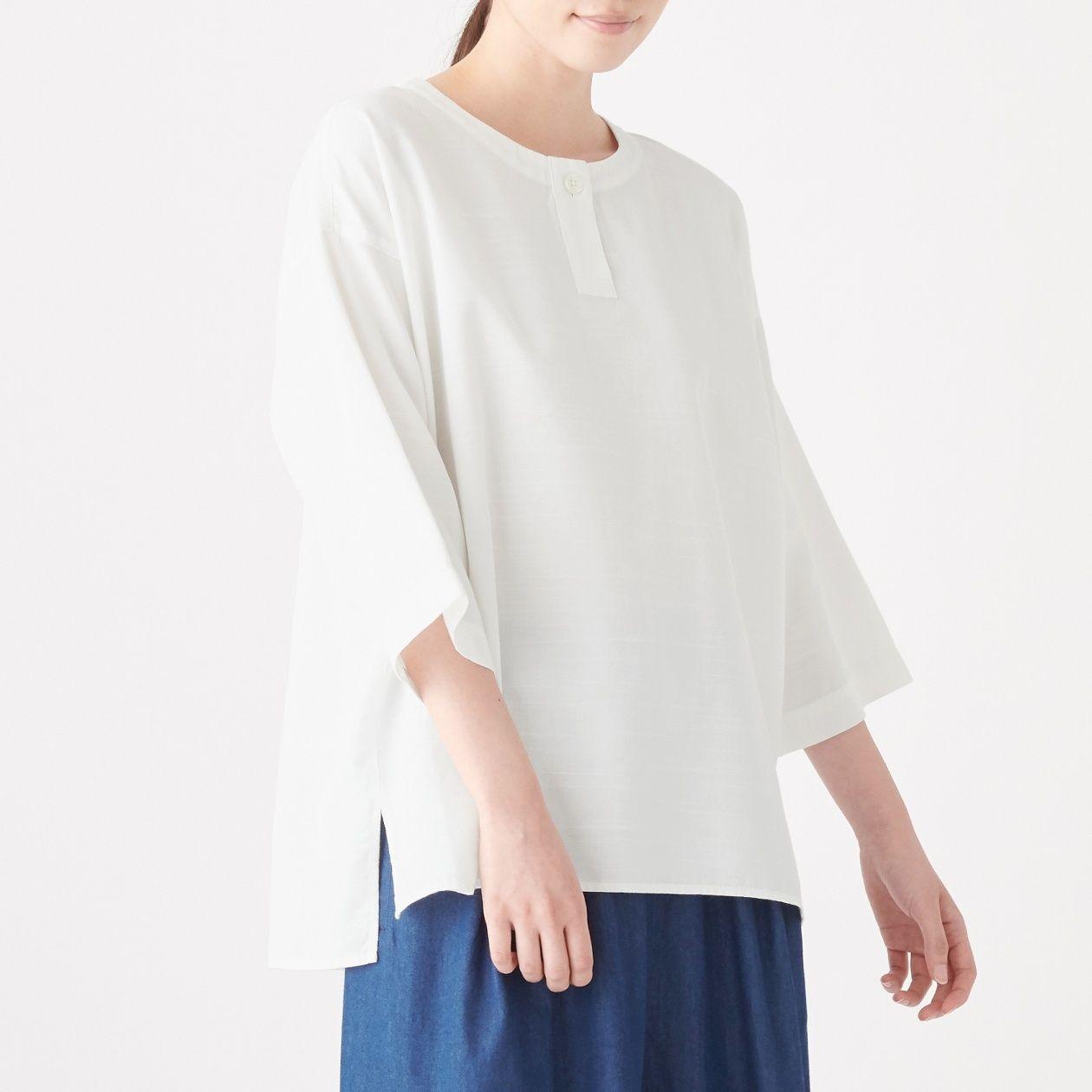 [무인양품] 면 100% 풀오버 블라우스 ONE SIZE・오프화이트 MUJI 일본 공식스토어