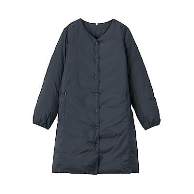 Lightweight Australian Down Pocketable Collarless Coat