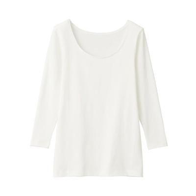 Cotton U Neck 4/5 Sleeve T-Shirt