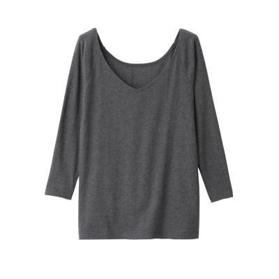 Cotton V Neck 4/5 Short Sleeve T-Shirt