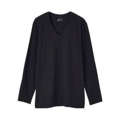 Cotton Long Sleeve V Neck T-Shirt