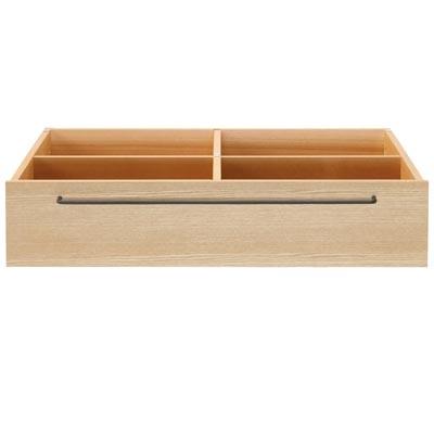 木製ベッドフレーム下収納・タモ材/ナチュラル 幅80×奥行60.5×高さ19cm