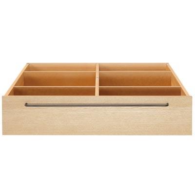 木製ベッドフレーム下収納・大・タモ材/ナチュラル 幅80×奥行90.5×高さ19cm