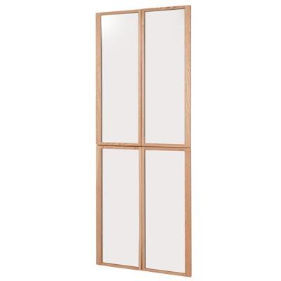 組み合わせて使える木製収納用ガラス扉・ハイタイプ用 ハイタイプ用・4枚組