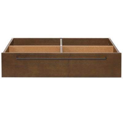 木製ベッドフレーム用ポケット収納。