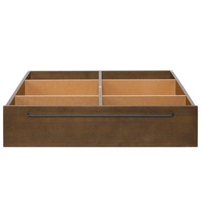 木製ベッドフレーム下収納・大・タモ材/ブラウン 幅80×奥行90.5×高さ19cm