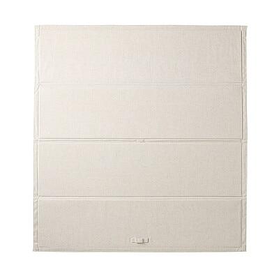 ポリエステル綿麻混・木製ベッドフレーム下収納・大用ふた 幅80×奥行85.5cm