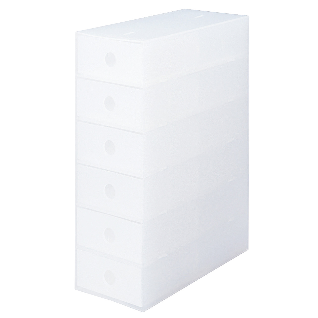 ポリプロピレン小物収納ボックス6段・A4タテ
