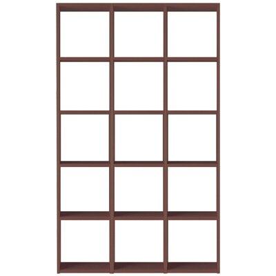 【数量限定】スタッキングシェルフセット・5段×3列・ウォールナット材 幅122×奥行28.5×高さ200cm
