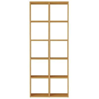 【数量限定】スタッキングシェルフセット・5段×2列・オーク材 幅82×奥行28.5×高さ200cm