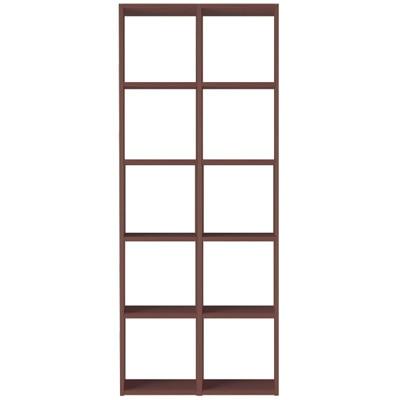 【数量限定】スタッキングシェルフセット・5段×2列・ウォールナット材 幅82×奥行28.5×高さ200cm