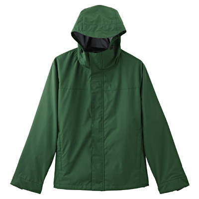 Permeable Water-repellent Twill Hooded Blouson 1177854: Green