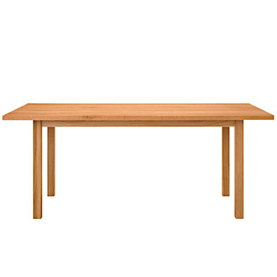 【店舗限定】オーク無垢材ダイニングテーブル・長方形2 R幅180×奥行85×高さ72cm