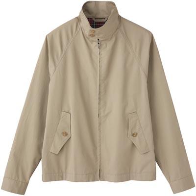 Cotton Twill Zip Blouson 1195964: Beige
