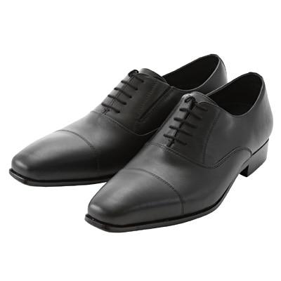 ストレートチップ革靴 紳士・26.5cm・黒