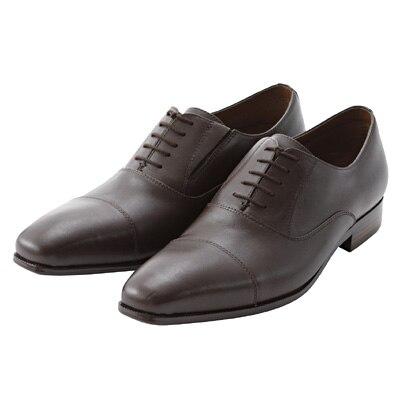ストレートチップ革靴 紳士・25.5cm・濃茶