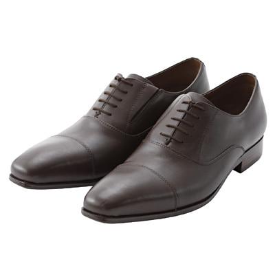 ストレートチップ革靴 紳士・26.5cm・濃茶