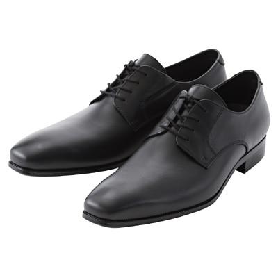 プレーントゥ革靴 紳士・25.5cm・黒