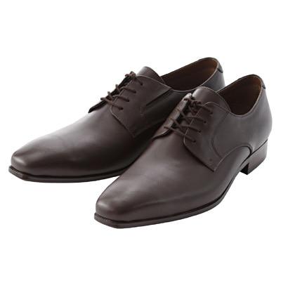 プレーントゥ革靴 紳士・26.0cm・濃茶