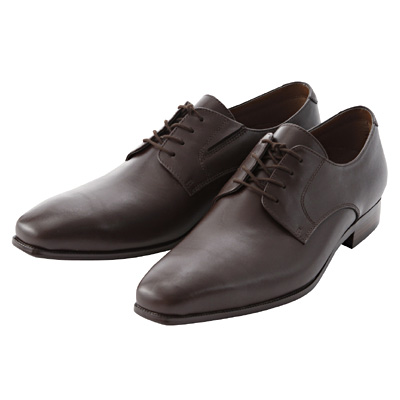 プレーントゥ革靴 紳士・27.5cm・濃茶