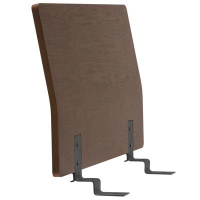 木製ベッドフレーム用ヘッドボード・スモール・タモ材/ブラウン 幅85.5×奥行8×高さ53cm