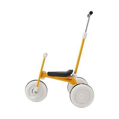三輪車・舵取り棒付き イエロー