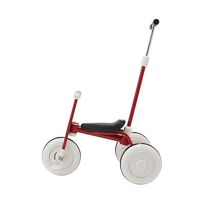 三輪車・舵取り棒付き レッド