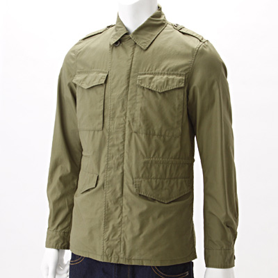 High-Count Cotton Field Jacket 1394060: Olive