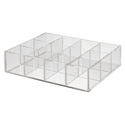重なるアクリル仕切付ボックス 幅25.8×奥行17.5×高さ6.1cm