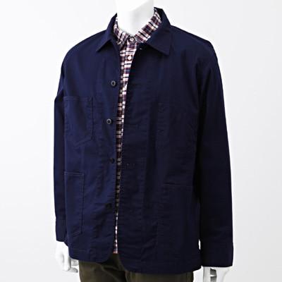 Cotton Twill Work Jacket 1407883: Navy