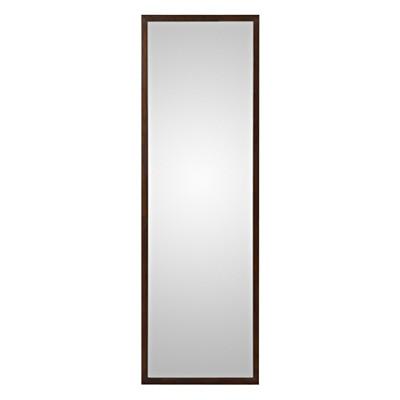 壁に付けられる家具・ミラー・中・タモ材/ブラウン 幅32.5×奥行2×高さ100cm