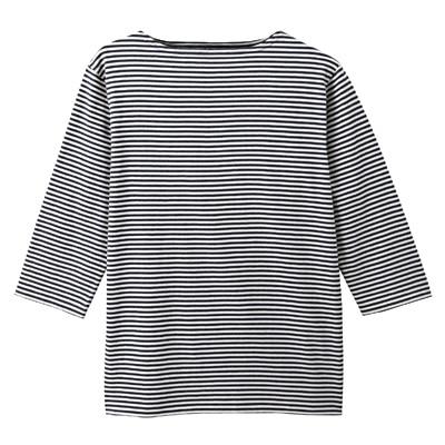 オーガニックコットンボートネック七分袖Tシャツ 紳士L・グレー | 無印良品