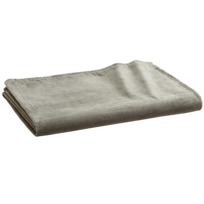 綿シール織毛布・S/グレー 140×200cm