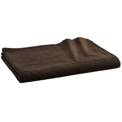 綿シール織毛布・S/ブラウン 140×200cm