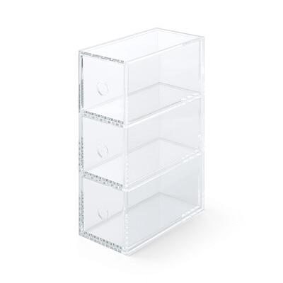 acryl aufbewahrungsbox f r kleine dinge 3 schubladen muji online store. Black Bedroom Furniture Sets. Home Design Ideas