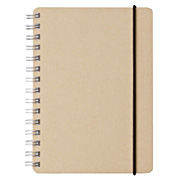 W Ring Dot Grid Notebook W Recycled Paper Bg A6 70s