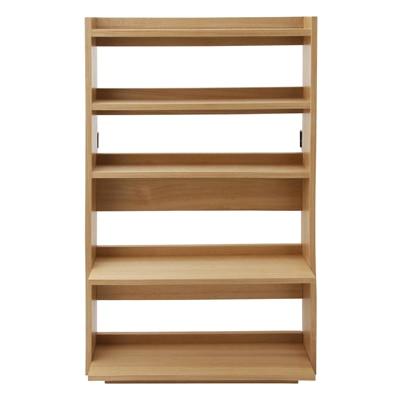 タモ材本棚(ハイベッド・2段ベッド専用) 幅75×奥行15/24×高さ128