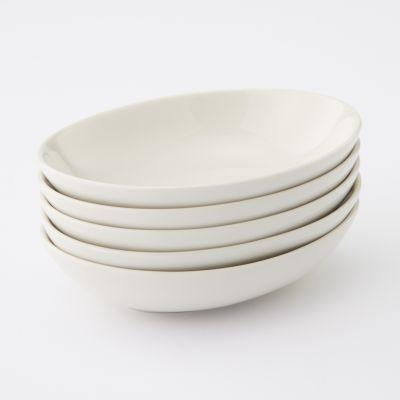【まとめ買い】磁器ベージュ楕円皿・小 5枚セット
