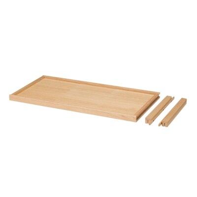 オーク材ユニットシェルフ・追加棚板・引出式 幅80×奥行40×高さ3.5cm