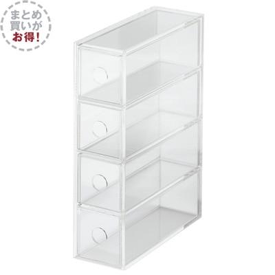 【まとめ買い】アクリルメガネ・小物ケース 4個セット