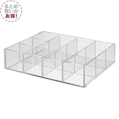 【まとめ買い】重なるアクリル仕切付ボックス・大 6個セット 約幅258×175×高さ61mm