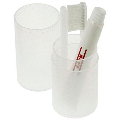 携帯用歯みがきセット・コップタイプ 折りたたみ式歯ブラシ・歯みがき
